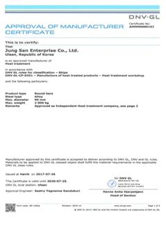 DNV.GL HEAT TREATMENT